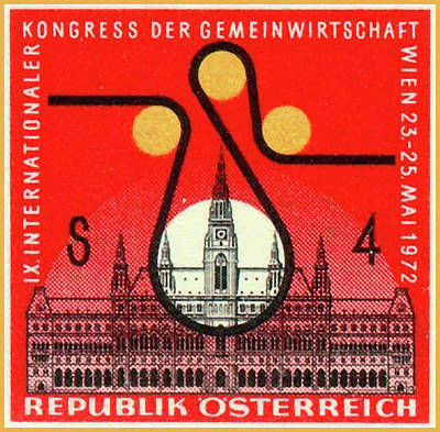 Painting - Vienna City Hall And Congress Badge by Lanjee Chee