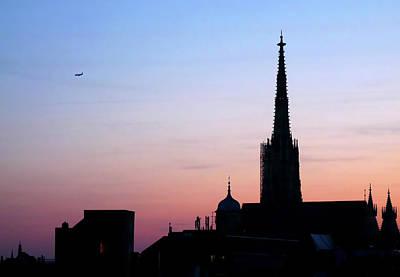 Jonny Jelinek Royalty-Free and Rights-Managed Images - Vienna City Silhouette by Jonny Jelinek