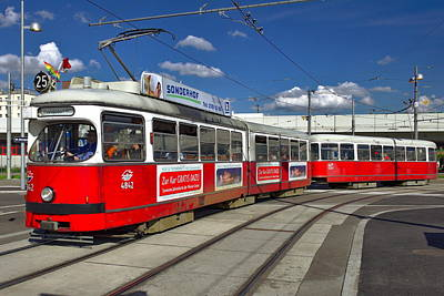 Photograph - Vienna City Trams by Anthony Dezenzio