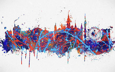 Painting - Vienna Colorful Skyline by Dan Sproul