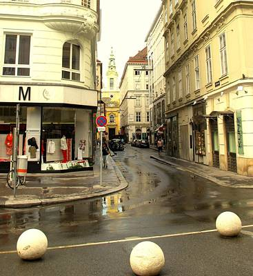 Photograph - Vienna Corner After The Rain by Ian  MacDonald