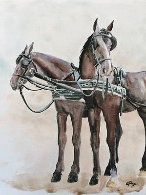 Fiaker Painting - Vienna Fiaker by Emily Page
