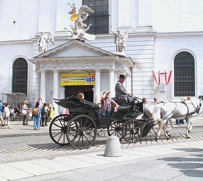 Photograph - Vienna Horse And Carriage by Ian  MacDonald