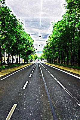 Colorful Photograph - Vienna Ringstrasse by Paul Rausch