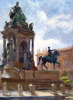 Oil Painting - Vienna Sculpture by Andrew Judd