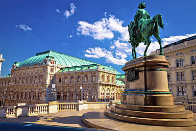 Photograph - Vienna State Opera House Square And Architecture View by Brch Photography