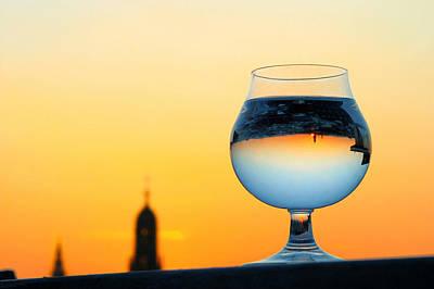 Jonny Jelinek Royalty-Free and Rights-Managed Images - Vienna - Sunset in a Glass by Jonny Jelinek