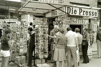 Viennese Newspaper Stand Art Print