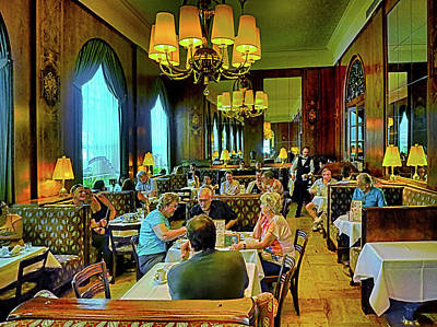 Photograph - Viennese Tea Room by C H Apperson