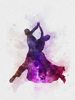 Dancing Mixed Media - Viennese Waltz by Rebecca Jenkins