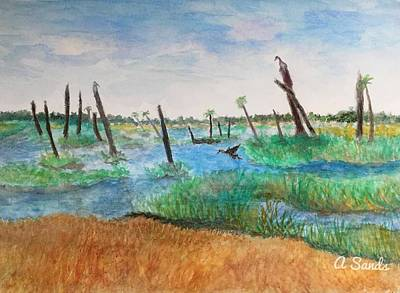 Painting - Viera Wetlands by Anne Sands