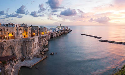 The Sea Of Tranquility Photograph - Vieste, Promontorio Del Gargano, Puglia, Italy by Peter Adams