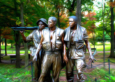 Digital Art - Viet Nam Memorial by Joe Paradis