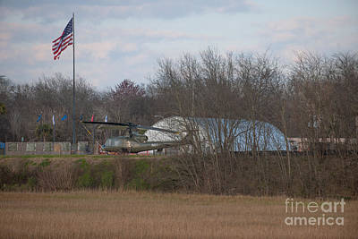 Photograph - Vietnam Helicopter Base by Dale Powell