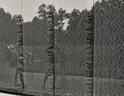 Photograph - Vietnam Memorial # 2 by Allen Beatty