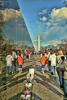 Photograph - Vietnam Memorial # 4 by Allen Beatty