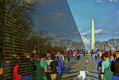 Photograph - Vietnam Memorial # 5 by Allen Beatty