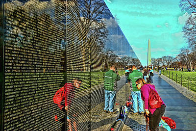 Photograph - Vietnam Memorial # 6 by Allen Beatty