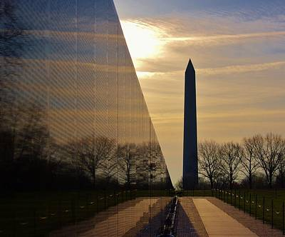 Photograph - Vietnam Memorial by Buddy Scott