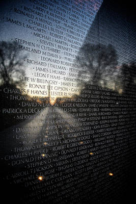 Photograph - Vietnam Memorial by Ryan Wyckoff
