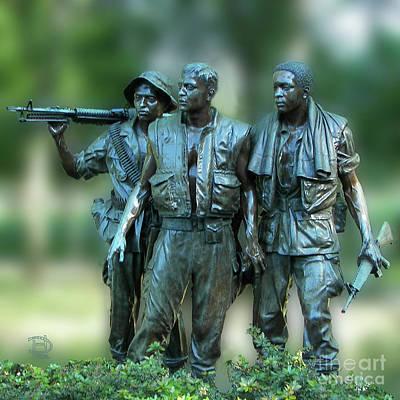 Photograph - Vietnam Memorial Soldiers by Daniel Hebard