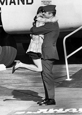 Affectionate Photograph - Vietnam Pow Returns by Underwood Archives