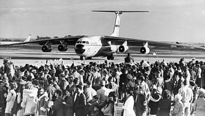 Anticipation Photograph - Vietnam Pows Arrive by Underwood Archives