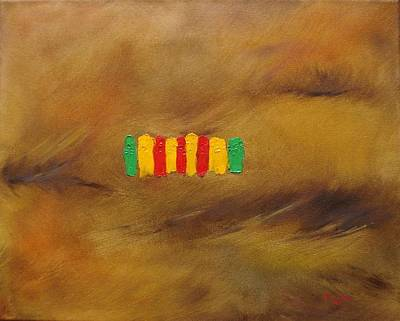 Painting - Vietnam Service Ribbon by Judith Rhue