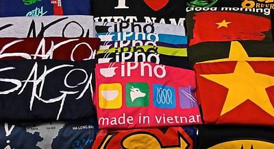 Photograph - Vietnam T-shirt Stall by David Warrington