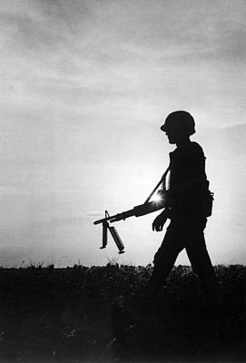 Infantryman Photograph - Vietnam Training Exercise by Underwood Archives