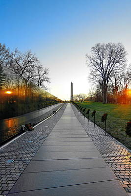 Photograph - Vietnam Veterans Memorial by Christopher Wieck