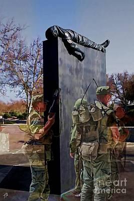 National Cemetery Digital Art - Vietnam Veterans Memories - In Oil by Tommy Anderson
