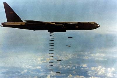 Cold War Era Photograph - Vietnam War. A B-52 Drops Christmas by Everett