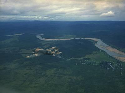 C-47 Photograph - Vietnam War. A Us Air Force C-47 by Everett