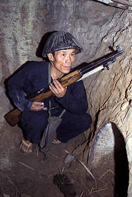 Vietnam War, A Viet Cong, Soldier Print by Everett