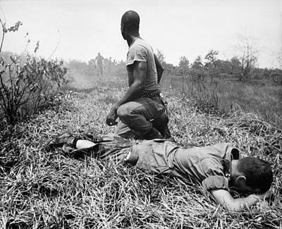 Cold War Era Photograph - Vietnam War. An African American by Everett