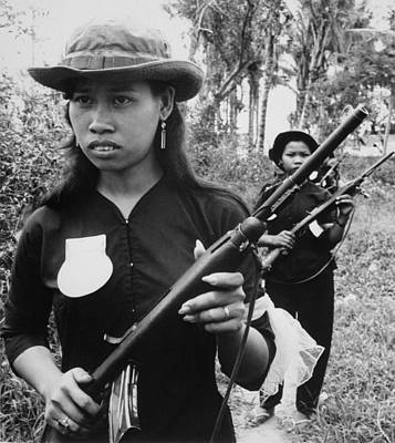 Cold War Era Photograph - Vietnam War. Girl Volunteers With Fine by Everett