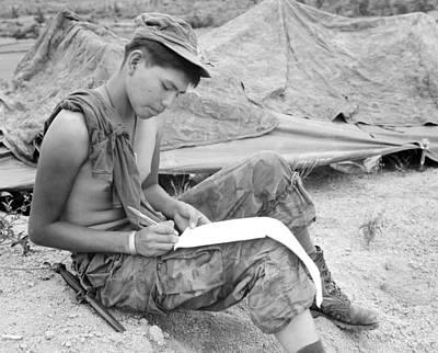 1960s Candids Photograph - Vietnam War. Private First Class Joseph by Everett