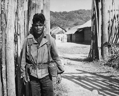 Cold War Era Photograph - Vietnam War. South Vietnamese Soldier by Everett