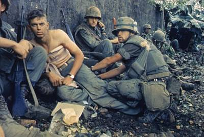 Cold War Era Photograph - Vietnam War-tet Offensive. A Medic by Everett