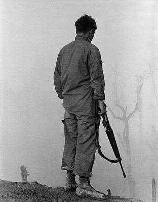 Cold War Era Photograph - Vietnam War. Us Infantryman Looks by Everett