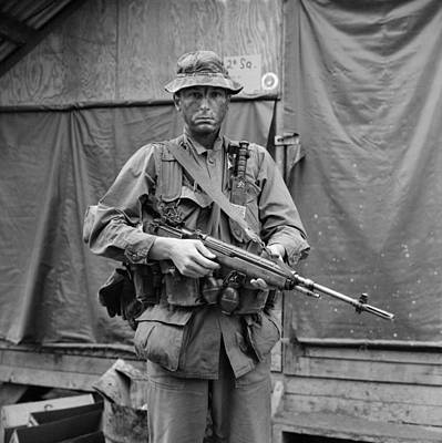 Cold War Era Photograph - Vietnam War. Us Marine Sergeant by Everett