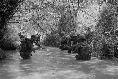 Cold War Era Photograph - Vietnam War. Us Marines Move by Everett