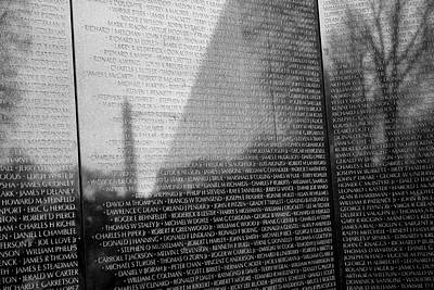 Photograph - Vietnam War Veterans Memorial by Steven Ralser