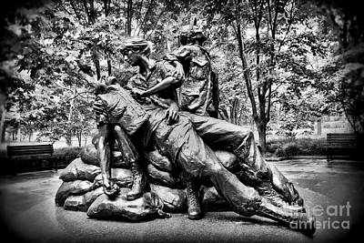 Photograph - Vietnam Womens Veterans Memorial by Allen Beatty