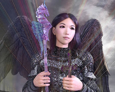 Digital Art - Vietnamese Angel 4 by Suzanne Silvir