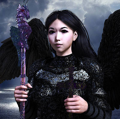 Digital Art - Vietnamese Angel by Suzanne Silvir