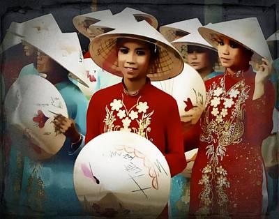 Photograph - Vietnamese Girls by Ian Gledhill