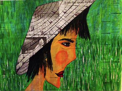 Mixed Media - Vietnamese Hat by Sandra Rincon