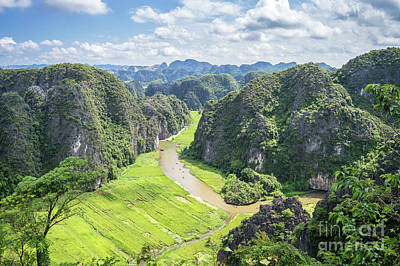 Photograph - Vietnamese Panorama by Delphimages Photo Creations